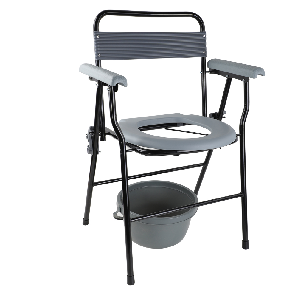 Raised Over Toilet Seat Chair Medical Folding Bedside Potty Commode ...