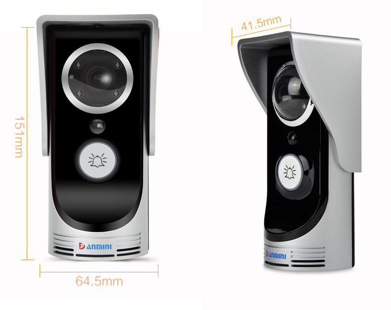 Smart Wireless Ring Doorbell Wifi Visual Camera Phone
