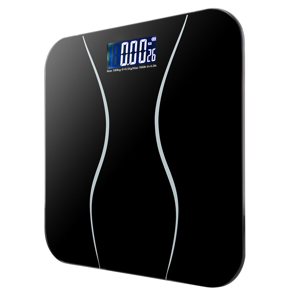 Electronic Bathroom Scales Toughened Glass Body Measure