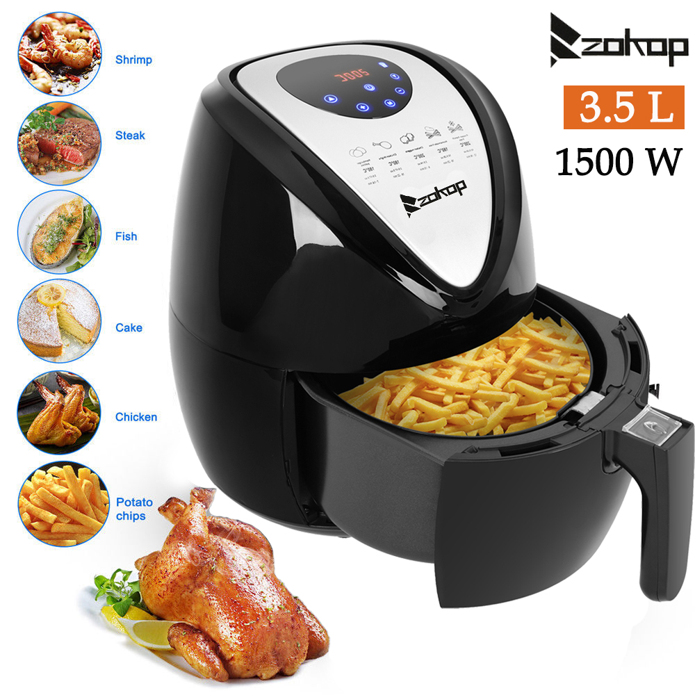 Zokop 3 5l Air Fryer 1500w Low Fat Oil Free Food Frying