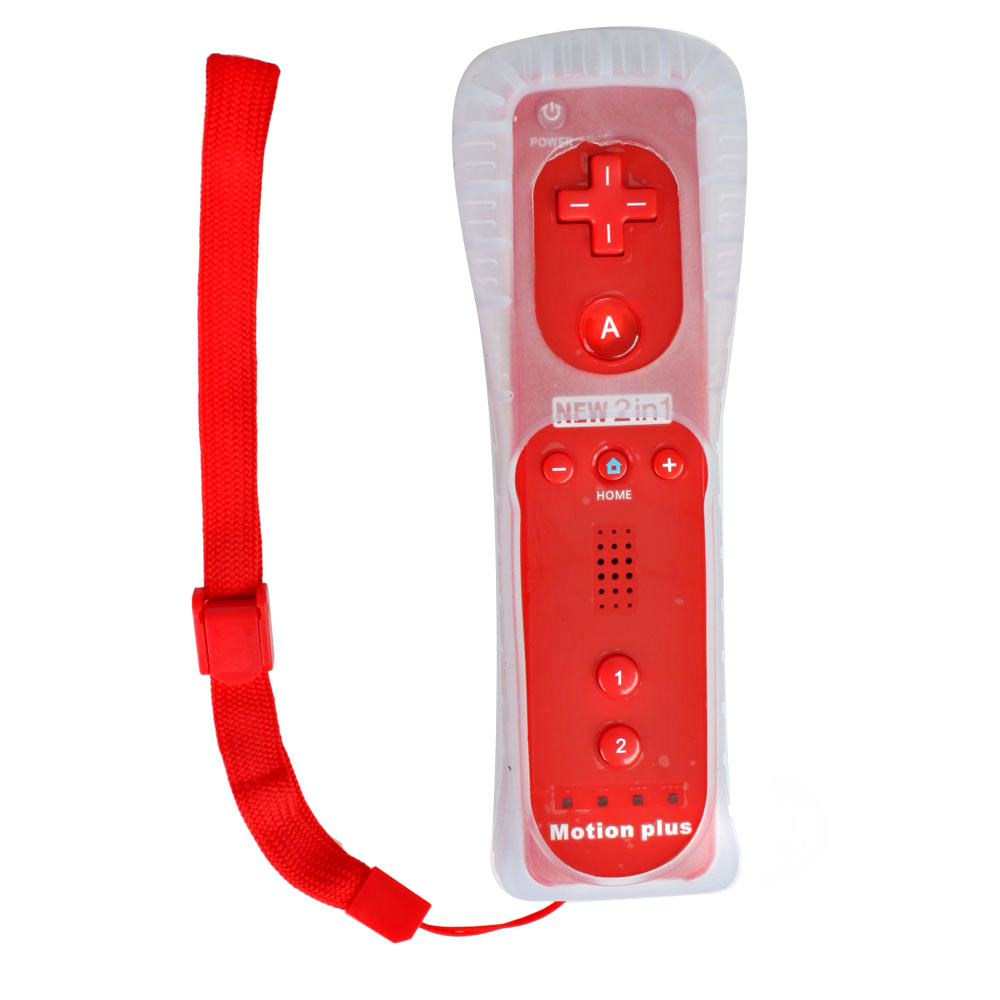 built in motion plus remote controller for nintendo wii wii u silicone strap ebay. Black Bedroom Furniture Sets. Home Design Ideas